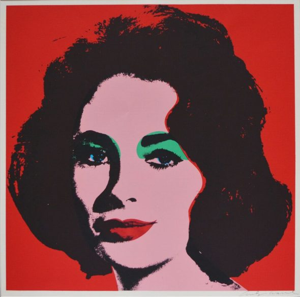 Andy Warhol Liz , 1964 Serigrafia su carta, 58,7x58,7 cm Collezione privata, Monaco (MC) © The Andy Warhol Foundation for the Visual Arts Inc. by SIAE 2018 per A. Warhol