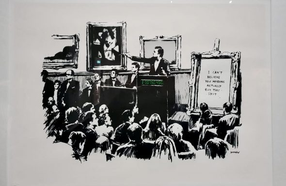 Visual protest. The Art of Banksy ArtsLife