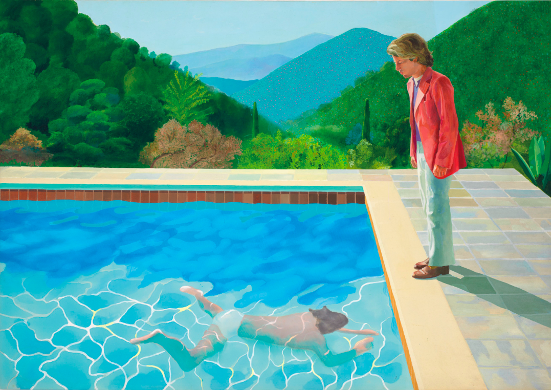 David Hockney. Portrait of an Artist ( Pool with Two Figures)