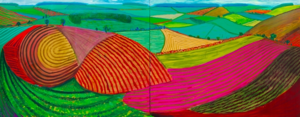 David Hockney. Double East Yorkshire (1998)