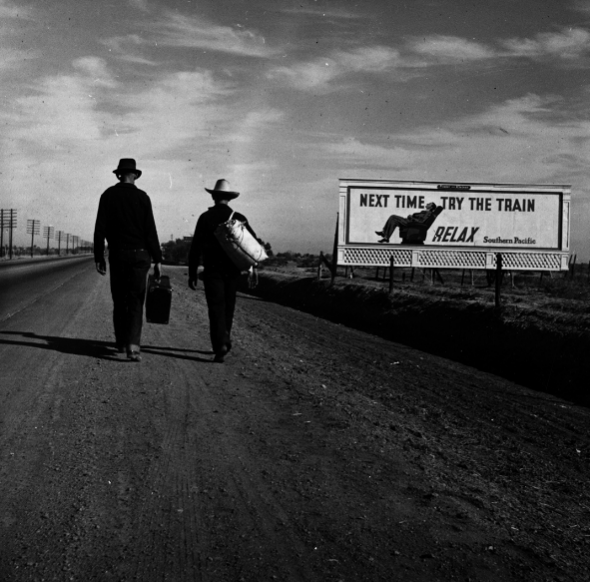 Towards Los Angeles; Dorothea Lange