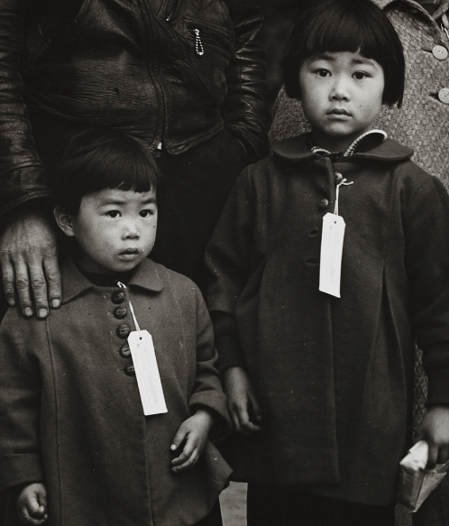 Japanese Children with tags; Dorotha Lange