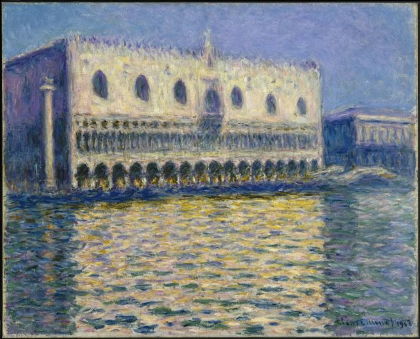 Claude Monet (French, 1840-1926). The Doge's Palace (Le Palais ducal), 1908. Oil on canvas, 32 x 39 in. (81.3 x 99.1 cm). Brooklyn Museum, Gift of A. Augustus Healy, 20.634 (Photo: Brooklyn Museum