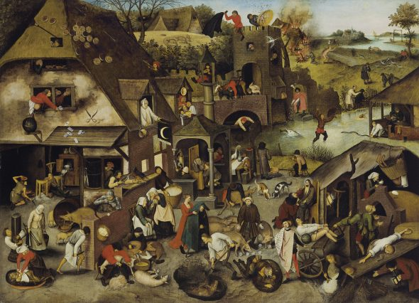 Pieter Brueghel, the Younger (Brussels 1564/5-1637/8 Antwerp) The Netherlandish Proverbs Estimate GBP 3,500,000 - GBP 5,500,000 Photo: Christie's