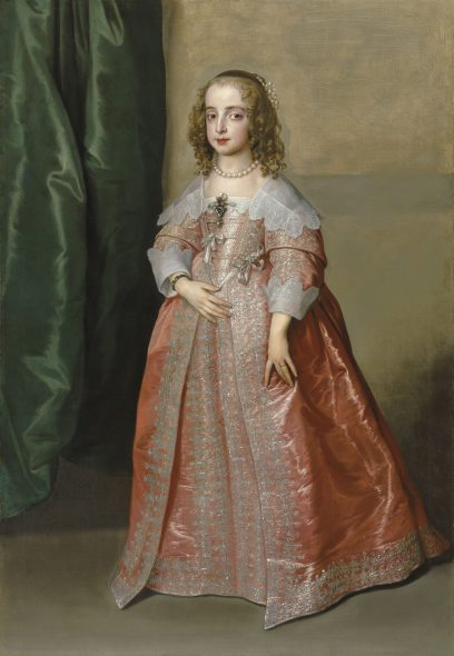 Sir Anthony van Dyck (Antwerp 1599–1641 London) Portrait of Princess Mary (1631–1660), daughter of King Charles I of England, full-length, in a pink dress decorated with silver embroidery and ribbons Estimate GBP 5,000,000 - GBP 8,000,000 Photo: Christie's