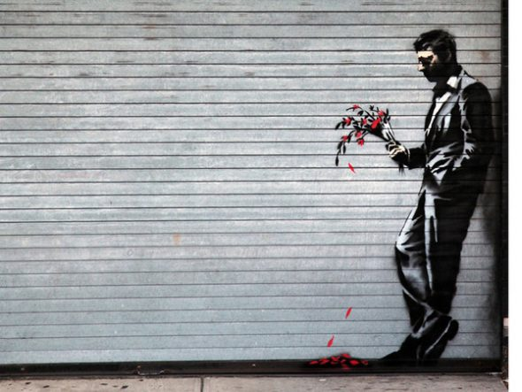 Banksy, Waiting in vain at the door of the club