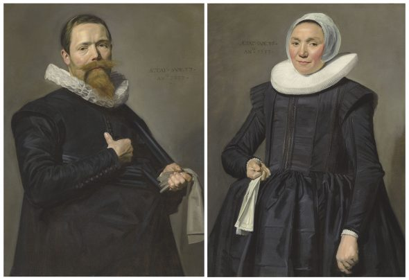 Frans Hals (Antwerp 1581/5-1666 Haarlem) Portrait of a gentleman, aged 37; and Portrait of a lady, aged 36 Price realised GBP 10,021,250 Estimate GBP 8,000,000 - GBP 12,000,000