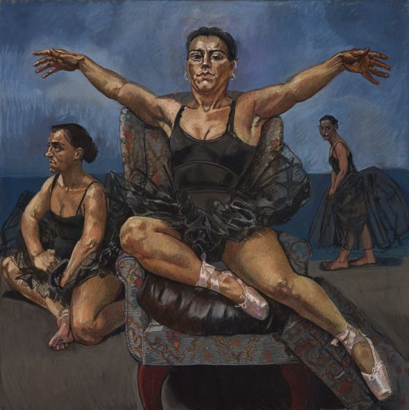 Paula Rego - Dancing Ostriches from Disney's Fantasia (Triptich, right panel), 1995 © Copyright Paula Rego Courtesy Marlborough Fine Art