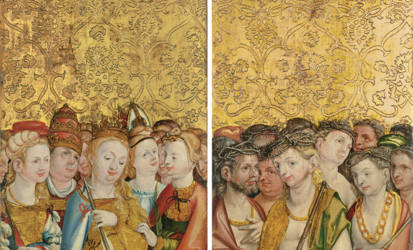 Master of the Sebastian Diptych (Upper Rhine, early 16th century) The wings of a triptych: Saint Ursula; and Saint Acacius Estimate 150,000 - 250,000 £ Photo: Christie's