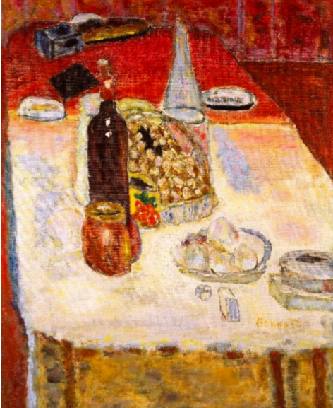 Still Life with Bottle of red Wine, 1942