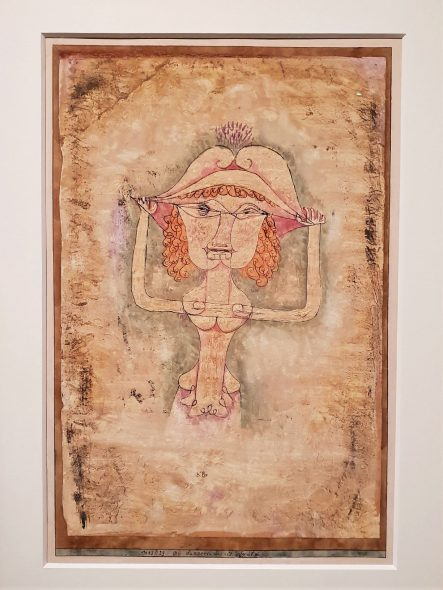 PAUL KLEE, THE SINGER L. AS FIORDILIGI, 1923 - GALERIE THOMAS