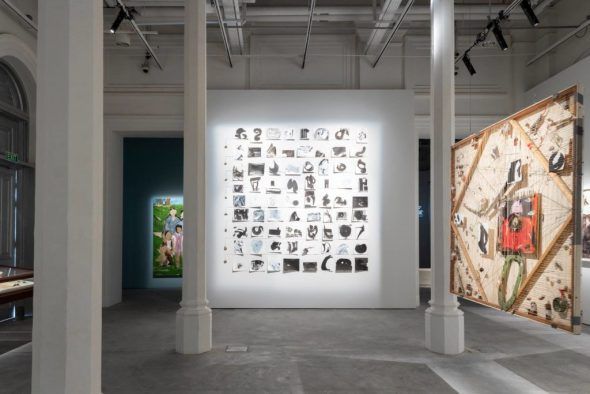 "Lucy Liu's Seventy Two in ""Unhomed Belongings,"" installation view. Courtesy of the artist."