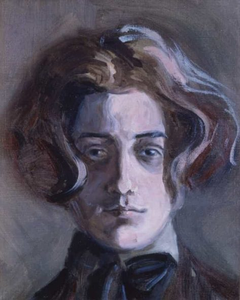 Egon Schiele, Self portrait with long hair, 1907