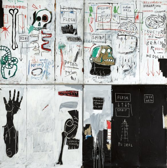 Jean-Michel Basquiat Flesh and Spirit (1982–83). Courtesy of Sotheby's.