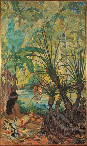 Mary Swanzy - Scena samoana, 1924 AIB Art Collection, Crawford Art Gallery