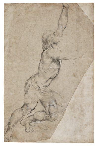 Peter Paul Rubens - Nude Study of Young Man with Raised Arms - est $2.500.000-3.500.000