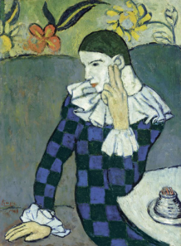 Picasso; Arlequin Assis