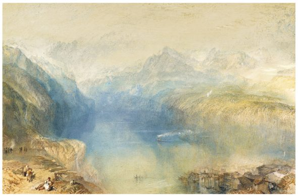 Joseph Mallord William Turner, R.A. THE LAKE OF LUCERNE FROM BRUNNEN