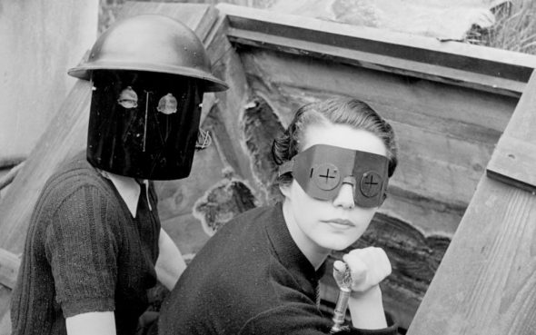 Lee Miller, Women with fire masks, 1941. ©Lee Miller Archives, England