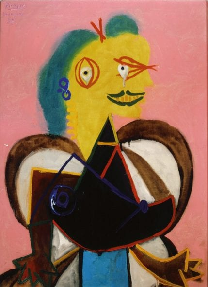 Pablo Picasso, Portrait of Lee Miller à l'Arlésienne, 1937. The Penrose Collection. © Roland Penrose Estate, England 2014. © Succession Pablo Picasso, VEGAP, Madrid 2017