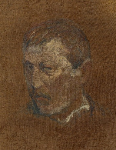 Paul Gauguin, Deux esquisses d'autoportrait (verso)