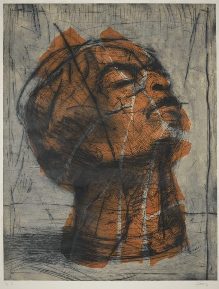 William Kentridge SOUTH AFRICAN HEAD (ORANGE) Estimate 30,000 — 50,000 GBP