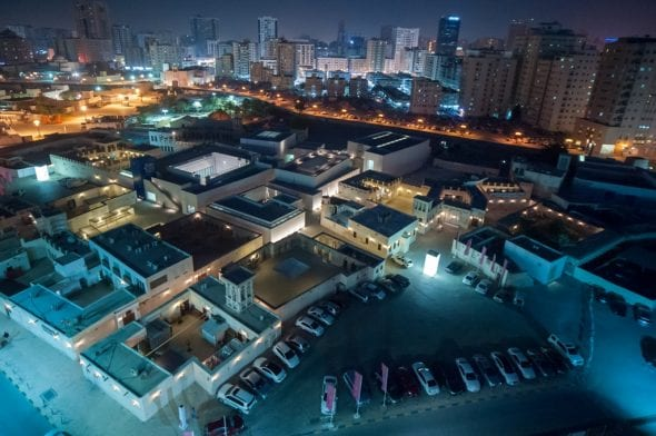 Al Mureijah Square, 2017. (Aerial view). Image courtesy of Sharjah Art Foundation
