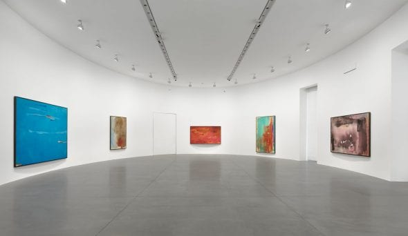"Installation view, ""Helen Frankenthaler: Sea Change: A Decade of Paintings, 1974–1983,"" Gagosian, Rome, March 13–July 19, 2019. Artwork © 2019 Helen Frankenthaler Foundation, Inc./Artists Rights Society (ARS), New York. Photo: Matteo D'Eletto, M3 Studio. Courtesy Gagosian"