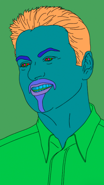 The George Michael Collection. MICHAEL CRAIG-MARTIN (B. 1941) Commissioned Portrait Untitled (George)