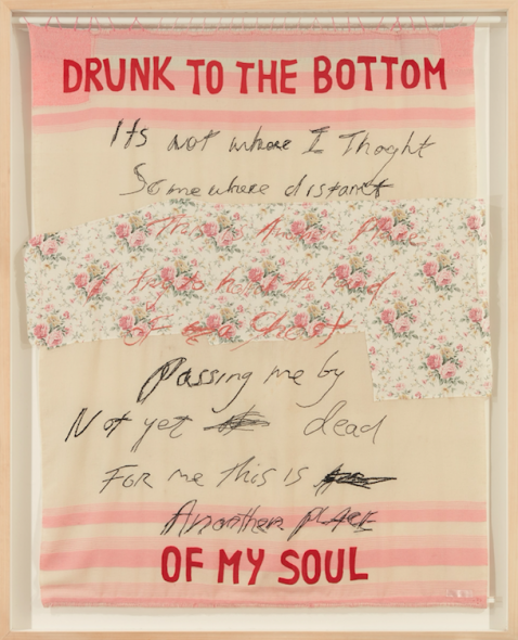 """The George Michael Collection. TRACEY EMIN (B. 1963) Drunk to the Bottom of my Soul"""""""