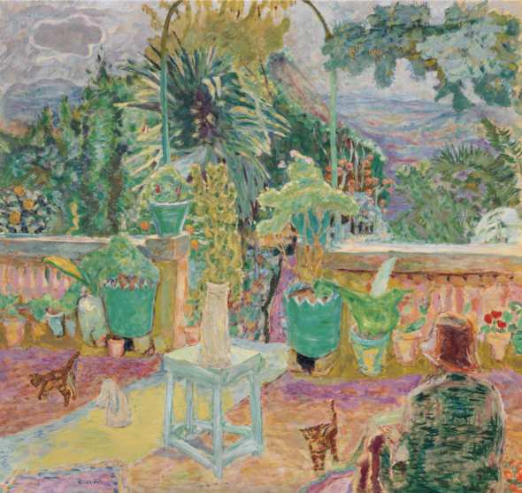 Pierre Bonnard (1867-1947), La Terrasse or Une terrasse à Grasse, 1912. Oil on canvas. 49¼ x 52⅞ in (125.3 x 134.4 cm). Estimate: $6,000,000-9,000,000. Offered in the Impressionist and Modern Art Evening Sale in on 13 May at Christie's in New York