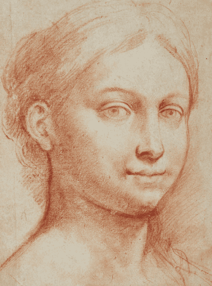 PROPERTY FROM THE COLLECTION OF JEAN BONNA Raffaellino del Colle Head of a young woman €250,000-350,000