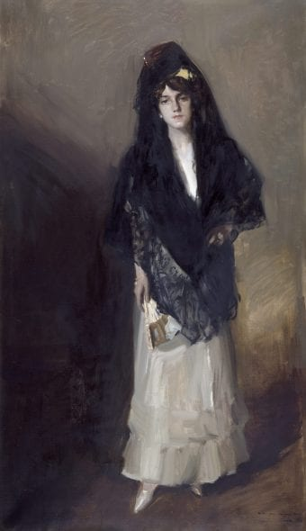 Joaquín Sorolla, María with Mantilla, 1910 Oil on canvas, 207 × 118 cm Museo Sorolla, Madrid © Museo Sorolla, Madrid