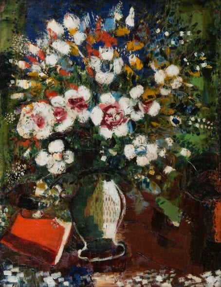 FLEURS (FLOWERS) MARC CHAGALL (Liozna, 1887 - Saint Paul de Vence, 1985) Oil on canvas 72 x 57 cm (28.3 x 22.5 in.) Signed lower left 'Marc Chagall' 1924