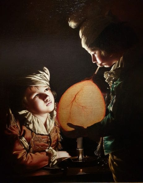 Joseph Wright of Derby, Two boys with a bladder, 1769-70, da Libson & Yarker