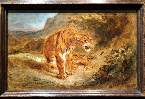 Eugene Delacroix, Tiger on the Alert, da Eric Coatalem