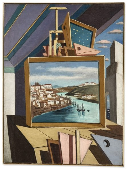Giorgio de Chirico INTÉRIEUR MÉTAPHYSIQUE SIGNED, INSCRIBED ON THE REVERSE, OIL ON CANVAS. EXECUTED IN 1925 CA. Estimate 380,000 — 450,000 EUR