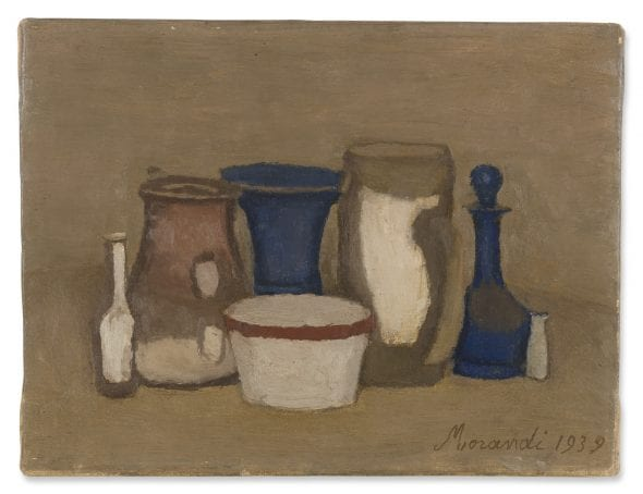 Giorgio Morandi NATURA MORTA SIGNED AND DATED 1939, OIL ON CANVAS. Estimate 700,000 — 1,000,000 EUR
