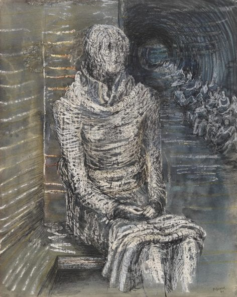 Henry Moore, Woman Seated in the Underground