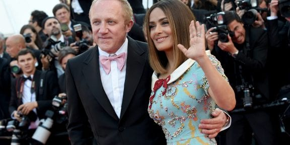 Salma Hayek e Francois-Henri Pinault (Photo by Stephane Cardinale - Corbis/Corbis via Getty Images)