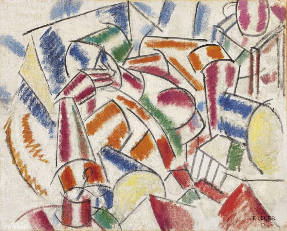 Fernand Léger (1881-1955) Femme dans un fauteuil signed and dated 'F. LEGER 13' (lower right) oil on burlap 31 7/8 x 39 3/8 in. (81 x 100 cm.) Painted in 1913