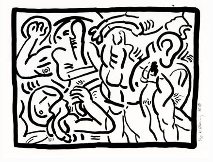 Bad boys di Keith Haring,