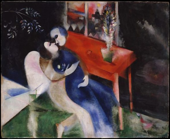Marc Chagall, The Lovers, 1913-14