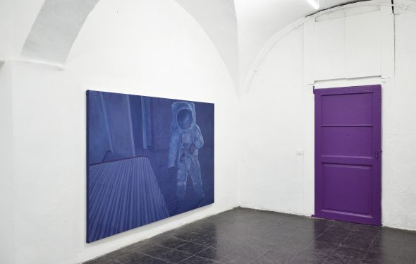 Filippo Cristini, Hidden Among the Leaves, exhibition view at Current, Milan