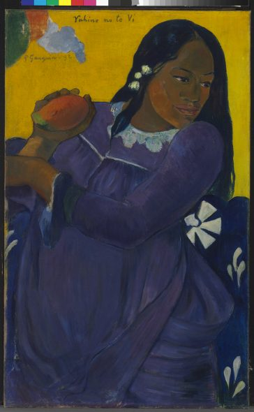 Paul Gauguin Vahine no te vi (Woman with a Mango), 1892 Oil on canvas 72.7 × 44.5 cm The Baltimore Museum of Art The Cone Collection, formed by Dr. Claribel Cone and Miss Etta Cone of Baltimore, Maryland; BMA 1950.213 The Baltimore Museum of Art / Photo: Mitro Hood