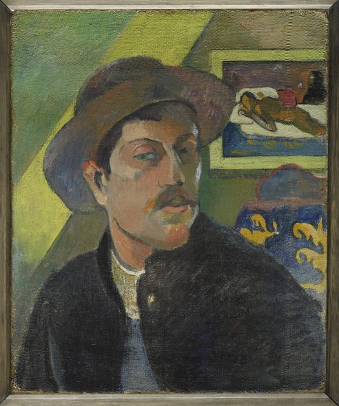Paul Gauguin Potrait de l'artiste (recto), Portrait de William Molard (verso), 1893-1894 Diptych- oil on canvas 46 × 38 cm Musée d'Orsay, Paris Acquired with the assistance of an anonymous Canadian donation, 1966 (RF 1966-7) © RMN-Grand Palais (musée d'Orsay) / Franck Raux