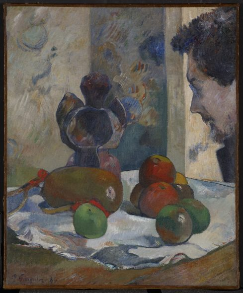 Paul Gauguin Still Life with Profile of Laval, 1886 Oil on canvas 46 × 38 cm Indianapolis Museum of Art  Samuel Josefowitz Collection of the School of Pont-Aven, through the generosity of Lilly  Endowment Inc., the Josefowitz Family, Mr. and Mrs. James M. Cornelius, Mr. and Mrs.  Leonard J. Betley, Lori and Dan Efroymson, and other Friends of the Museum, 1998.167 Image courtesy of Indianapolis Museum of Art at Newfields