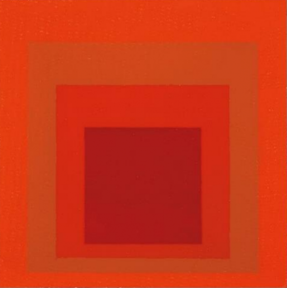 "Josef Albers, Study to ""Affectionate"" (Homage to the Square) (1954, estimate: £150,000-200,000)"