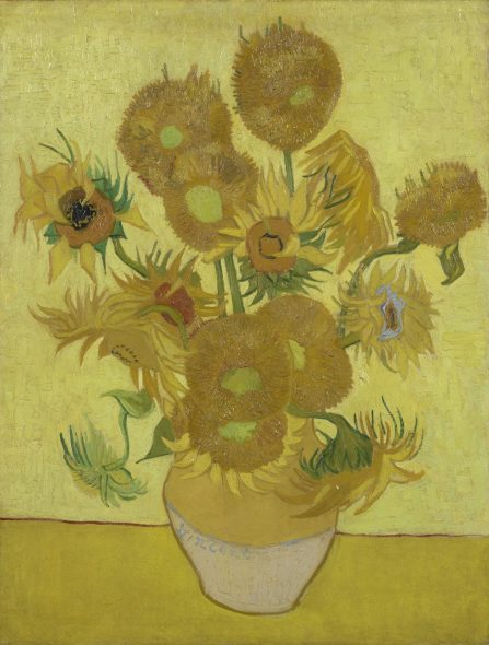 Sunflowers Vincent van Gogh (1853 - 1890), Arles, January 1889 oil on canvas, 95 cm x 73 cm Credits (obliged to state): Van Gogh Museum, Amsterdam (Vincent van Gogh Foundation)