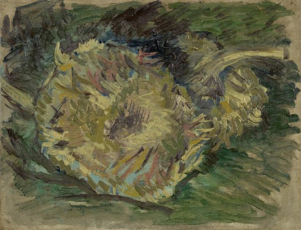 Sunflowers Gone to Seed Vincent van Gogh (1853 - 1890), Paris, August-September 1887 oil on canvas, 21.2 cm x 27.1 cm Credits (obliged to state): Van Gogh Museum, Amsterdam (Vincent van Gogh Foundation)